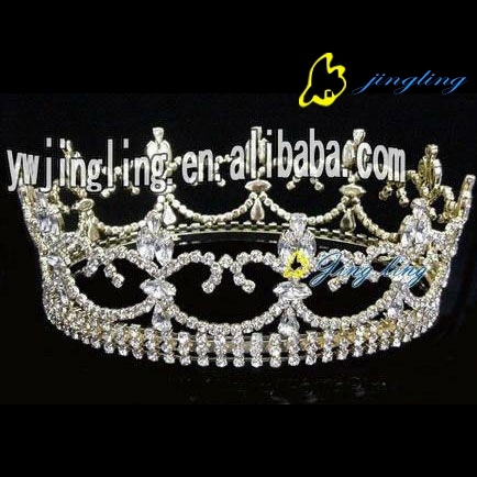 full round rhinestone accessory pageant crowns for sale