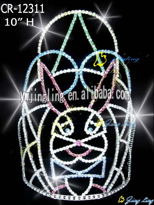 10inch height pageant tiara easter rabbit crown