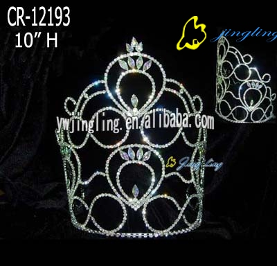 large hot sale tiara cheap pageant crown
