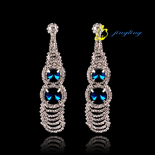 2015 High-grade temperament earrings Exaggerated the gourd rhinestones earrings