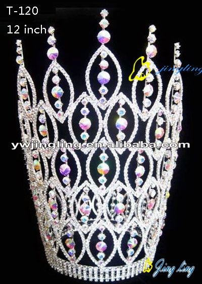 Rhinestone Pageant Crowns Big Size
