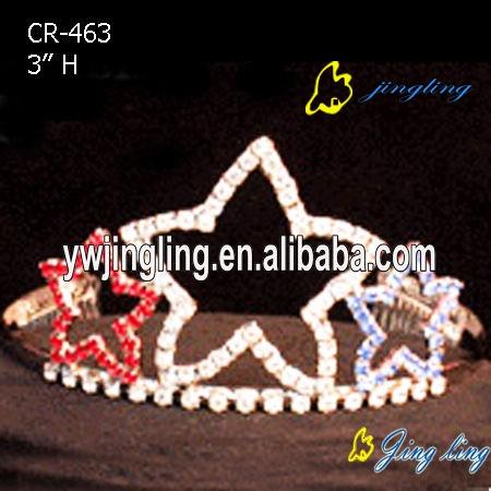 Patriotic Crown Star Tiaras