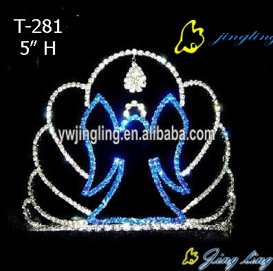 Rhinestone Holiday Angel Halloween Pageant Crown