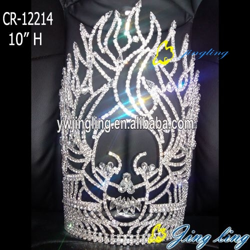 skull rhinestone tiara special pageant crown