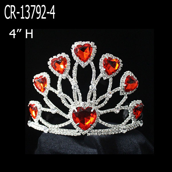 Wholesale Cheap Heart Pageant Crown For Sale