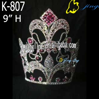 colorful all AB stone special large 10inch pageant crown