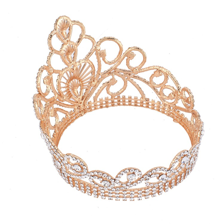 2017 New Fashion Rhinestone Crown In Gold For Party