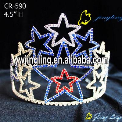 Patriotic Crown Star Shape