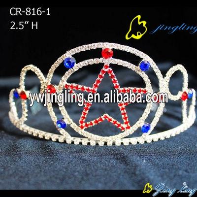 colorful crystal star patriotic crown
