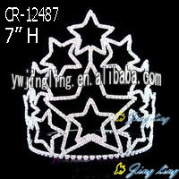 Patriotic Crown Rhinestone Crowns