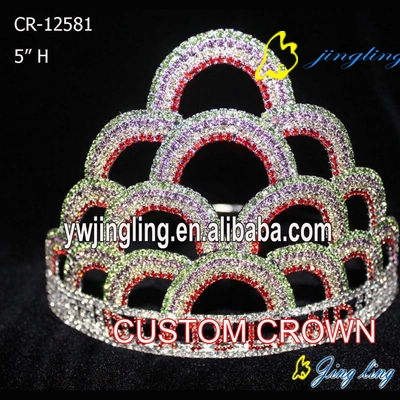 Small Customed Design  Rainbow Crown