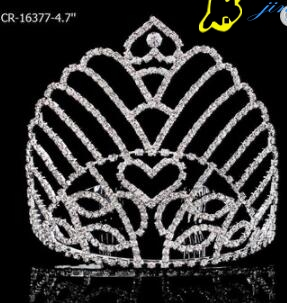 Heart Clear Stone Beauty Pageant Crown
