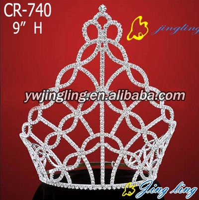 large all AB stone pageant crown