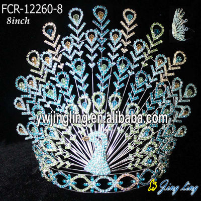 Custom Peacock Big Pageant Crown For Sale