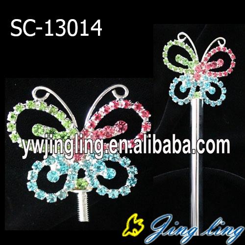 Custom Rhinestone Butterfly Scepter