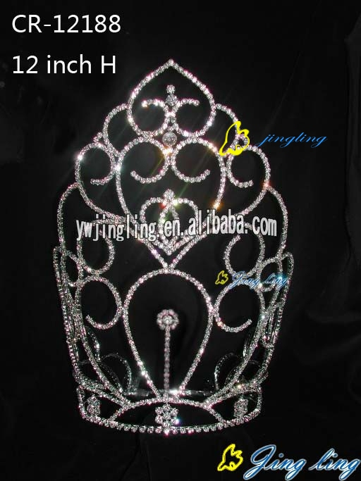 large tiara sweet heart cheap pageant crown