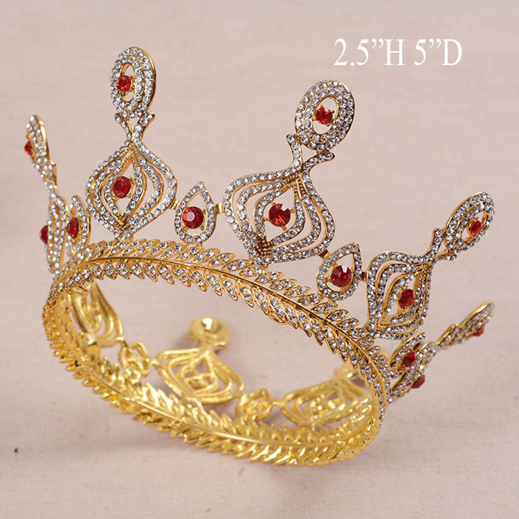 New Gold Plated Miss American Beauty Queen Crown