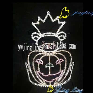 new style pumpkin face tiara halloween holiday crowns