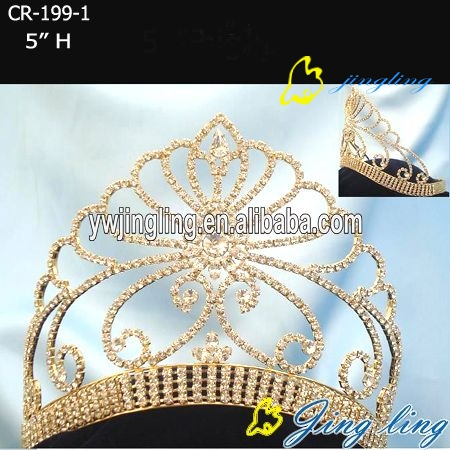heart and flower beauty tiara rhinestone crown