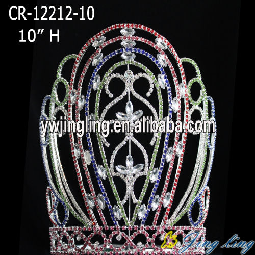 colored large tiara patriotic pageant crown