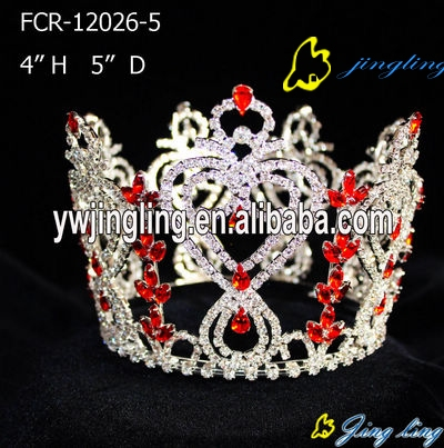 red stone full round crown