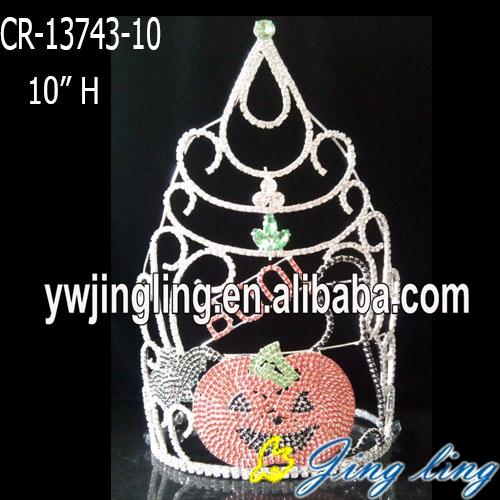 Wholesale rhinestone pumpkin pageant crown