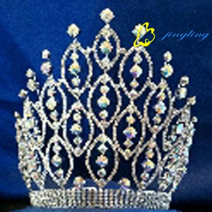 AB stone large special design rhinestone pageant crowns