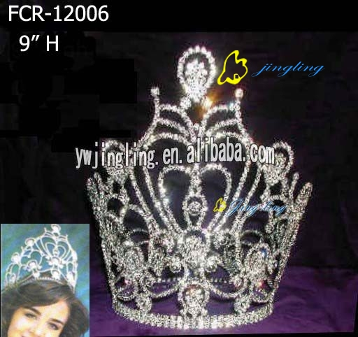 large rhinestone crown for sale