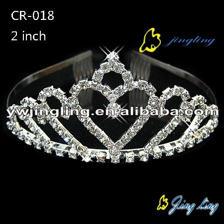 Fashion heart rhinestone wedding tiaras