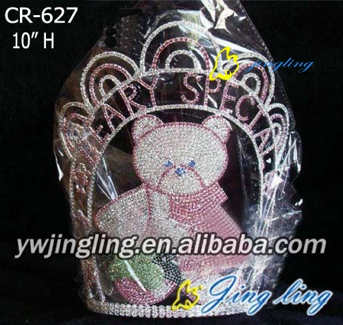 Rhinestone Crowns Animal bear shape