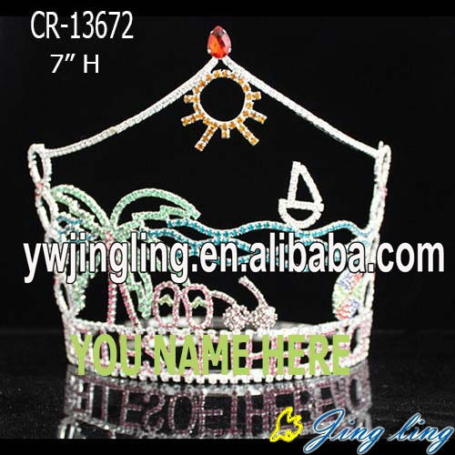 Custom holiday palm tree and slipper fashion pageant crowns