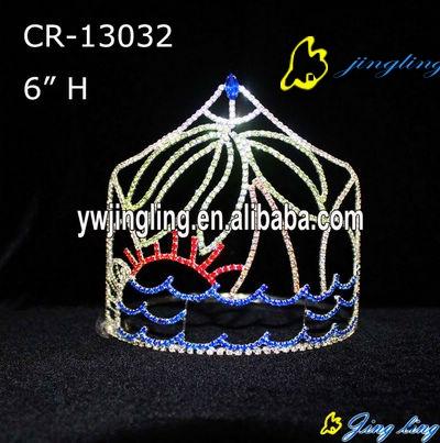 Rhinestone Crowns Tree Sun Sea Theme