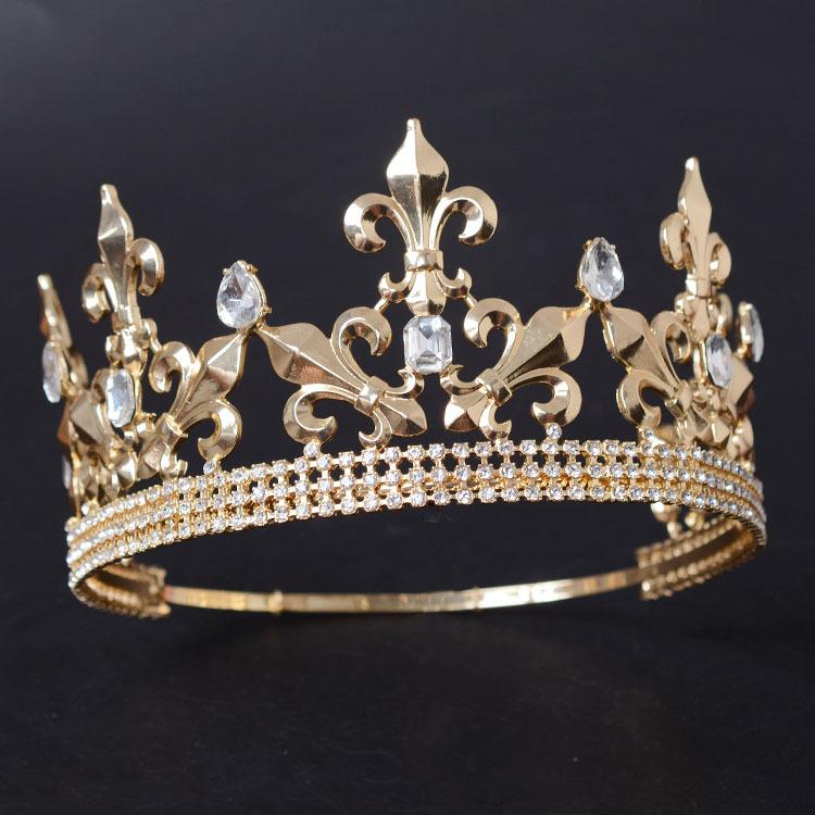 Gold Flower-de-luce crown Pageant Crown