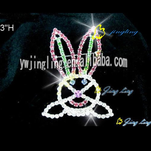 Fashion crystal halloween rabbit brooch