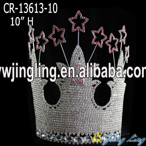 large star and castle pagant crown for sale