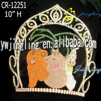 animal tiara rhinestone pageant crowns