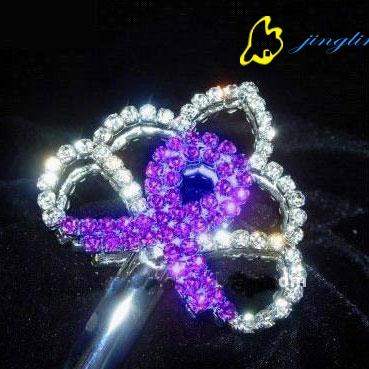 beautiful rhinestone and crystal scepter