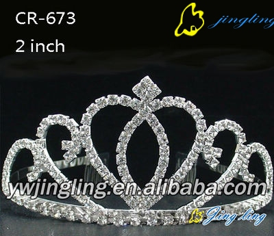 rhinestone tiara pageant crowns CR-673