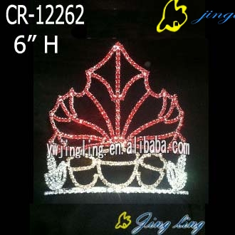 Easter Tiara Crowns Red Maple Leaf Shape