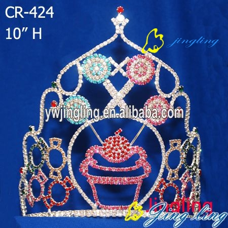 Rhinestone Cupcake Crowns