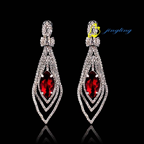 Drop Earrings Charm Earring Different Color Rhinestone Cubic Zirconia Earrings Rhinestone And Copper