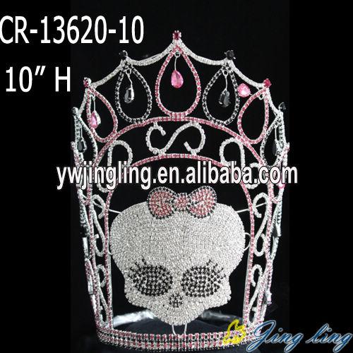 Custom skulll Halloween pageant crown