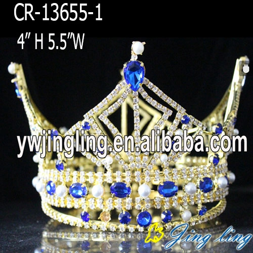 Gold plated pear full round boy crown