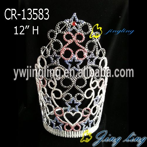 Rhinestone Full Round Pageant Crown Diadem High Quality Hair Jewelry 2018