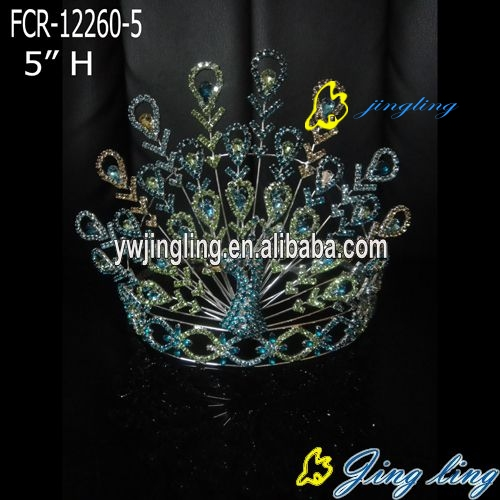 Custom King Crowns Peacock shape