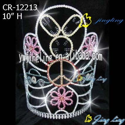 large pageant tiara easter rabbit crown