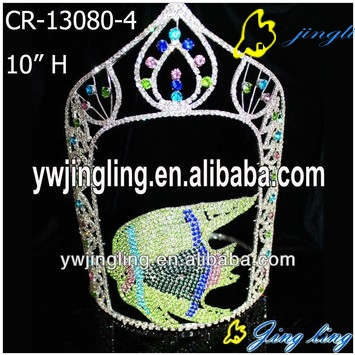 Animal Crown Fish Rhinestone Pageant Crown For Sale