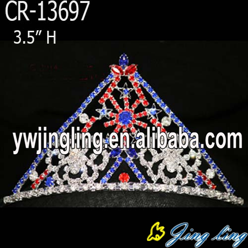 New Aarrived star colored rhinestone snow flower Christmas Pageant crowns