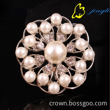 Fashion Jewelry Pearl brooch pin silver crystal brooches for woman wedding brooch bouquet