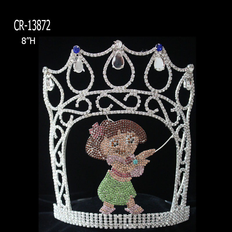 Summer Holiday Hula Girl theme Custom Pageant Crown